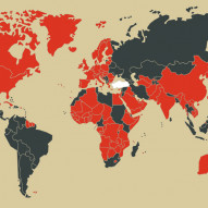 2015 Yılı Vizesiz Ülkeler Haritası