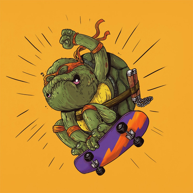 yaşlı ninja kaplumbağa